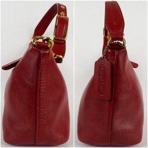 Coach Bags - Vintage Coach Demi Model 9596 Red Leather Purse